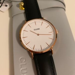 NEW Cluse La Bohème Rose Gold White/Black watch